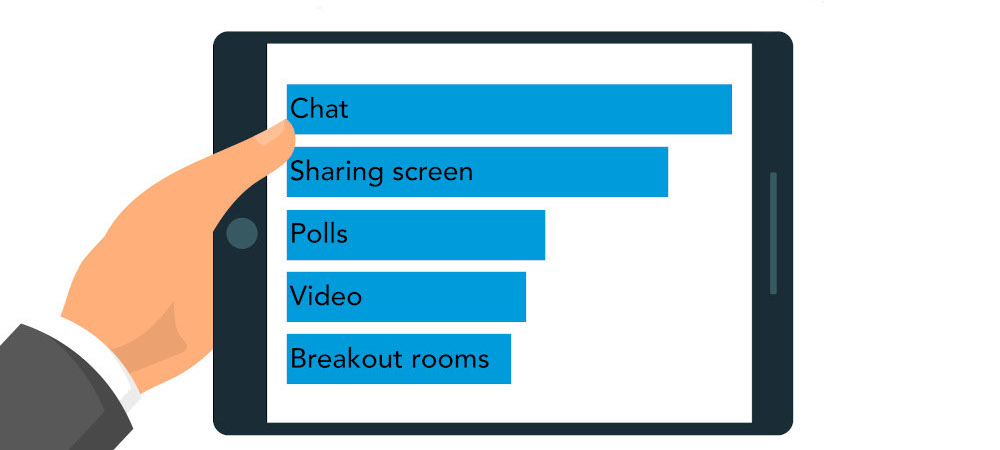 Which tools have you used on virtual classroom platforms? Most popular was chat, then sharing screen, polls, video, breakout rooms.
